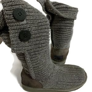 Gray woven ugg boots size 5